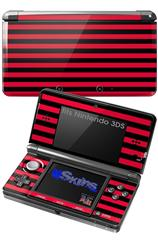 Stripes Red - Decal Style Skin fits Nintendo 3DS (3DS SOLD SEPARATELY)