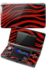 Zebra Red - Decal Style Skin fits Nintendo 3DS (3DS SOLD SEPARATELY)