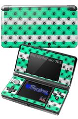Kearas Daisies Stripe Sea Foam - Decal Style Skin fits Nintendo 3DS (3DS SOLD SEPARATELY)