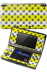 Kearas Daisies Stripe Yellow - Decal Style Skin fits Nintendo 3DS (3DS SOLD SEPARATELY)