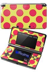 Kearas Polka Dots Pink And Yellow - Decal Style Skin fits Nintendo 3DS (3DS SOLD SEPARATELY)