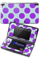 Kearas Polka Dots Purple And Blue - Decal Style Skin fits Nintendo 3DS (3DS SOLD SEPARATELY)
