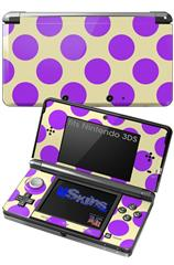 Kearas Polka Dots Purple On Cream - Decal Style Skin fits Nintendo 3DS (3DS SOLD SEPARATELY)