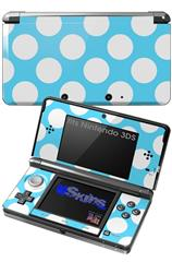 Kearas Polka Dots White And Blue - Decal Style Skin fits Nintendo 3DS (3DS SOLD SEPARATELY)