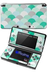 Brushed Circles Seafoam - Decal Style Skin fits Nintendo 3DS (3DS SOLD SEPARATELY)
