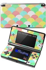 Brushed Cirlces Multi Light - Decal Style Skin fits Nintendo 3DS (3DS SOLD SEPARATELY)