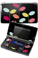 Plain Leaves On Black - Decal Style Skin fits Nintendo 3DS (3DS SOLD SEPARATELY)