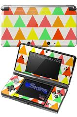 Triangles Citrus - Decal Style Skin fits Nintendo 3DS (3DS SOLD SEPARATELY)
