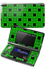 Criss Cross Green - Decal Style Skin fits Nintendo 3DS (3DS SOLD SEPARATELY)