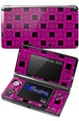 Criss Cross Pink - Decal Style Skin fits Nintendo 3DS (3DS SOLD SEPARATELY)
