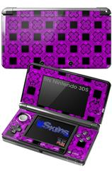 Criss Cross Purple - Decal Style Skin fits Nintendo 3DS (3DS SOLD SEPARATELY)