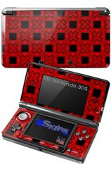 Criss Cross Red - Decal Style Skin fits Nintendo 3DS (3DS SOLD SEPARATELY)