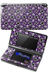 Splatter Girly Skull Purple - Decal Style Skin fits Nintendo 3DS (3DS SOLD SEPARATELY)