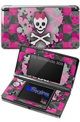 Princess Skull Heart - Decal Style Skin fits Nintendo 3DS (3DS SOLD SEPARATELY)