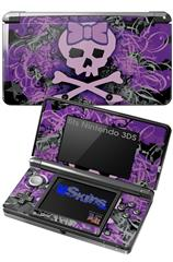 Purple Girly Skull - Decal Style Skin fits Nintendo 3DS (3DS SOLD SEPARATELY)
