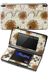 Flowers Pattern 19 - Decal Style Skin fits Nintendo 3DS (3DS SOLD SEPARATELY)