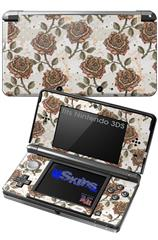 Flowers Pattern Roses 20 - Decal Style Skin fits Nintendo 3DS (3DS SOLD SEPARATELY)