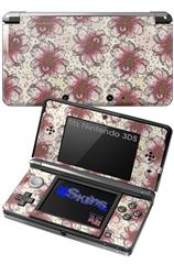 Flowers Pattern 23 - Decal Style Skin fits Nintendo 3DS (3DS SOLD SEPARATELY)