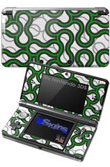 Locknodes 01 Green - Decal Style Skin fits Nintendo 3DS (3DS SOLD SEPARATELY)