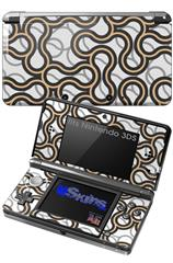 Locknodes 01 Peach - Decal Style Skin fits Nintendo 3DS (3DS SOLD SEPARATELY)