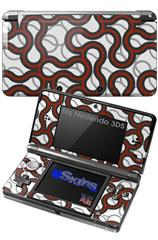 Locknodes 01 Red Dark - Decal Style Skin fits Nintendo 3DS (3DS SOLD SEPARATELY)
