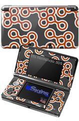 Locknodes 02 Burnt Orange - Decal Style Skin fits Nintendo 3DS (3DS SOLD SEPARATELY)