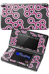 Locknodes 02 Hot Pink (Fuchsia) - Decal Style Skin fits Nintendo 3DS (3DS SOLD SEPARATELY)