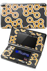 Locknodes 02 Orange - Decal Style Skin fits Nintendo 3DS (3DS SOLD SEPARATELY)