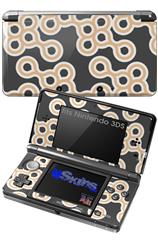 Locknodes 02 Peach - Decal Style Skin fits Nintendo 3DS (3DS SOLD SEPARATELY)