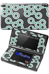 Locknodes 02 Seafoam Green - Decal Style Skin fits Nintendo 3DS (3DS SOLD SEPARATELY)