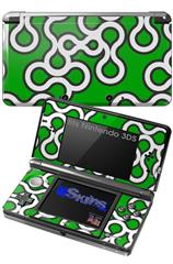 Locknodes 03 Green - Decal Style Skin fits Nintendo 3DS (3DS SOLD SEPARATELY)