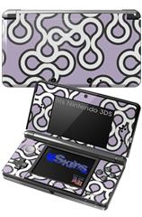 Locknodes 03 Lavender - Decal Style Skin fits Nintendo 3DS (3DS SOLD SEPARATELY)