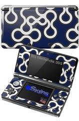 Locknodes 03 Navy Blue - Decal Style Skin fits Nintendo 3DS (3DS SOLD SEPARATELY)
