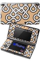 Locknodes 03 Peach - Decal Style Skin fits Nintendo 3DS (3DS SOLD SEPARATELY)