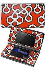 Locknodes 03 Red - Decal Style Skin fits Nintendo 3DS (3DS SOLD SEPARATELY)