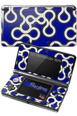 Locknodes 03 Royal Blue - Decal Style Skin fits Nintendo 3DS (3DS SOLD SEPARATELY)