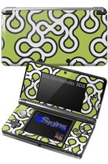 Locknodes 03 Sage Green - Decal Style Skin fits Nintendo 3DS (3DS SOLD SEPARATELY)