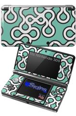 Locknodes 03 Seafoam Green - Decal Style Skin fits Nintendo 3DS (3DS SOLD SEPARATELY)