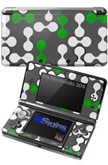 Locknodes 04 Green - Decal Style Skin fits Nintendo 3DS (3DS SOLD SEPARATELY)