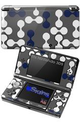 Locknodes 04 Navy Blue - Decal Style Skin fits Nintendo 3DS (3DS SOLD SEPARATELY)