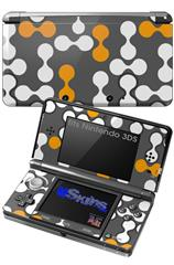 Locknodes 04 Orange - Decal Style Skin fits Nintendo 3DS (3DS SOLD SEPARATELY)