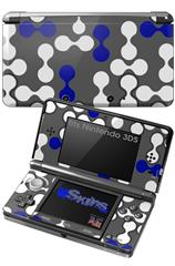 Locknodes 04 Royal Blue - Decal Style Skin fits Nintendo 3DS (3DS SOLD SEPARATELY)