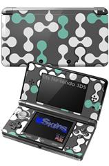 Locknodes 04 Seafoam Green - Decal Style Skin fits Nintendo 3DS (3DS SOLD SEPARATELY)