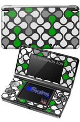 Locknodes 05 Green - Decal Style Skin fits Nintendo 3DS (3DS SOLD SEPARATELY)