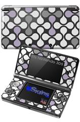 Locknodes 05 Lavender - Decal Style Skin fits Nintendo 3DS (3DS SOLD SEPARATELY)