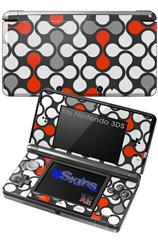 Locknodes 05 Red - Decal Style Skin fits Nintendo 3DS (3DS SOLD SEPARATELY)