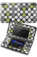 Locknodes 05 Sage Green - Decal Style Skin fits Nintendo 3DS (3DS SOLD SEPARATELY)