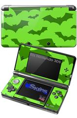 Deathrock Bats Green - Decal Style Skin fits Nintendo 3DS (3DS SOLD SEPARATELY)