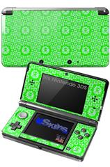Gothic Punk Pattern Green - Decal Style Skin fits Nintendo 3DS (3DS SOLD SEPARATELY)