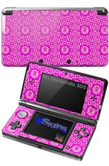 Gothic Punk Pattern Pink - Decal Style Skin fits Nintendo 3DS (3DS SOLD SEPARATELY)